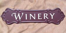 WINERY WINE SIGN  Metal Vintage Style Wine Cellar Bar Pub Kitchen Wall Decor