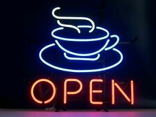 """New Coffee Open Cafe Beer Bar Lamp Neon Light Sign 17''x14"""""""