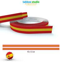 Tiras adhesivas bandera España para motos coches bibicletas en vinilo imprimido