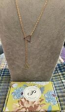 Plunder Design Fashion Jewelry Bellamy Gold Chain Geometric Triangle Necklace