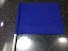 """FORMULA 1/ONE Hand Held BLUE Race Flag, Stockcar 17"""" X 14.5"""" 5"""" Handle"""