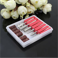 6PCS Drill Bits for Nail Machine Hand Drill Replacement Free 6Pcs Sanding band