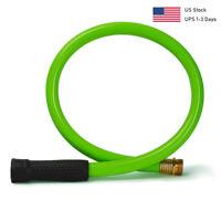 Kink Free Short Garden Water Hose 3/4,5/8 in. 3/4 ft Durable Heavy Duty Flexible