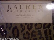 Ralph Lauren New Bohemian leopard Venetian Court Queen Flat Sheet NIP REDUCED