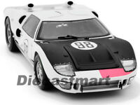 1966 FORD GT40 MK 2 WHITE #98 DIECAST CAR MODEL 1:18 SHELBY COLLECTIBLES SC415