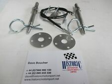 WORKS ESCORT TYPE,HISTORIC, CLASSIC STYLE, BONNET PINS,RACE, RALLY, RS,