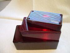 Hammond Red Box Translucent Enclosure 150x80x50mm Project Plastic (158)