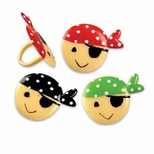 NEW PIRATE FACE THEME  CUPCAKE RINGS (12)