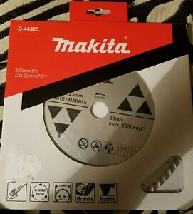 MAKITA D-44323 9 IN X 7/8 TURBO RIM GRANITE/MARBLE DIAMOND BLADE
