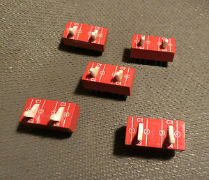 5 Grayhill Toggle 2 DPDT DIP Switch 2 Double Pole Double Throw Switches Five Pcs
