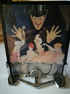 Original 1930s French Art Deco chrome picture/ photo frame with picture