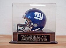 Display Case For Your Todd Gurley Rams Autographed Football Mini Helmet