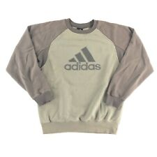 Vintage Y2K Adidas Crewneck Sweatshirt Large Embroidered Logo Spell Out Pullover