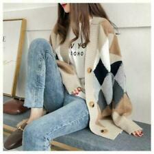 Korean Style Women Thick Sweaters Winter Long Sleeve Casual Cardigan Knitted Top