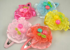 "Wholesale 3pcs girl baby toddler 2""boutique Hair Bow mixed ribbon with clips 8k"