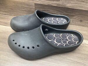 CROCS Women's 10 Freesail No-Strap Comfort Shoes Brown Slip On