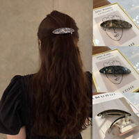 Women's Acrylic Oval Spring Barrette Hairpin Cute Hair Pins Hair Clip Fashion
