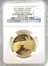2013 Israel Gold Coin Jordan River G10NS Early Release PF69 NGC Ultra Cameo