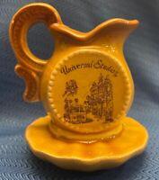 Vintage Universal Studios Souvenir Hollywood California Creamer Saucer Ceramic
