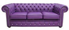 Chesterfield Design Luxus Polster Sofa Couch Sitz Garnitur Leder Textil Neu #242