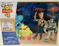 DISNEY Pixar Toy Story 4 - 5 Wood Puzzles and Storage Box
