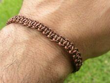 Bracelet copper color genuine leather adjustable knot sliding wristband bracelet