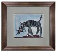 Pablo PICASSO Lithograph LTD ed, no.30 [RARE] El Gato ... 1939  w/CUSTOM frame
