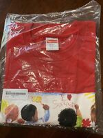"Brand New Supreme ""Kids Tee"" Red size L"