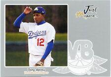 Tony Abreu Just Autographs 2005 Baseball Silver Edition Parallel 2/200 Dodgers