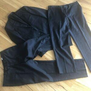 Nicholas Green Bond St Mens Charcoal Suit Size Jacket 56NR 2 X Pants 40NR Wool