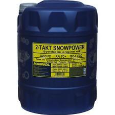 20 Liter Original MANNOL Schneemobilöl Motoröl 2-Takt Snowpower API TC+ Mischöl