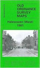 OLD ORDNANCE SURVEY MAP HALESOWEN WEST 1901