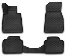 Gummimatten BMW F30 F31 F32 F36 Gummi Fußmatten 4 teilig 3D Schalen Qualität TPE