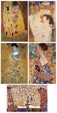 GUSTAV KLIMT ~ 5 POSTER SET 24x36 FINE ART Kiss Edele Mother Tree Life Lady Fan