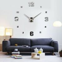 DIY 3D Wall Clock Numerals Large Size Mirrors Surface Luxury Big Art Clock UKYQ