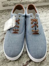 NEW Polo Ralph Lauren Vaughn Chambray Canvas Shoes Size 16D