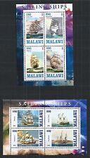 MALAWI 2013 SAILING SHIPS 2X MINI SHEET ** MNH
