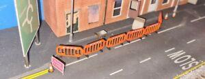 N Gauge 3D Printed Road Work/Construction Barriers 6 Pack