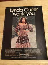 Vintage 1978 Magazine Ad - LYNDA CARTER for Young Edwardian Fashion