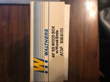 HO Walthers 40' DS Wood Box w/Wood Ends, ATSF #932-2155