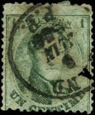 Belgium Scott #13b Used  Perf 12 1/2 x 13 1/2