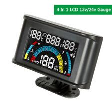 Digital Display  LCD Gauge Water Temperature Oil Pressure Fuel Voltage Alarm Car