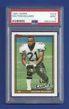 1991 TOPPS #329 DALTON HILLIARD PSA 9 MINT POP 1 NEW ORLEANS SAINTS
