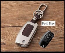 Metallic Key Holder Case Shell Bag Keyfob Cover For Ford Fiesta Focus Hatchback