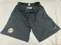 #50 MIAMI DOLPHINS THROWBACK GAME USED NIKE PRACTICE SHORTS SIZE 2XL POCKETS