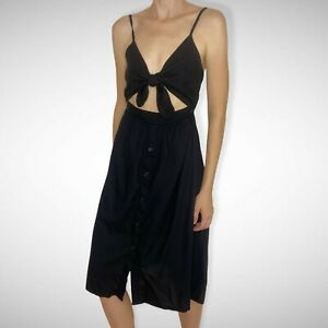 Element Cut Out Cami Black Dress