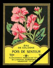 Vintage French Perfume Soap Label: Pois De Senteur Cologne Etoile Paris France