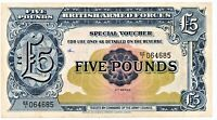 British Armed Forces 5 Pound Banknote 2nd Series XF As Pictured