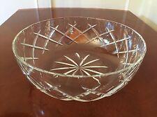 "Signed THOMAS WEBB England Crystal Glass 9"" Decorative Display or Fruit Bowl"
