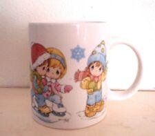 Precious Moments Christmas Mug- 2008- Sherwood- Winter Scenes-Snowflakes